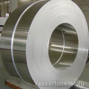 Лента нержавеющая 0,05 мм 06ХН28МДТ ГОСТ 4986-79